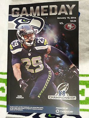 2014 NFC Championship Game Program Seattle Seahawks San Francisco 49ers