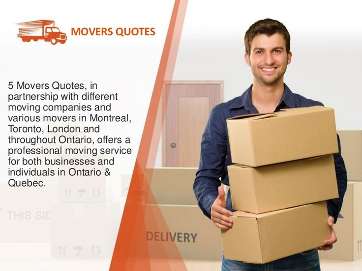5 Movers Quotes | Compare prices from moving companies