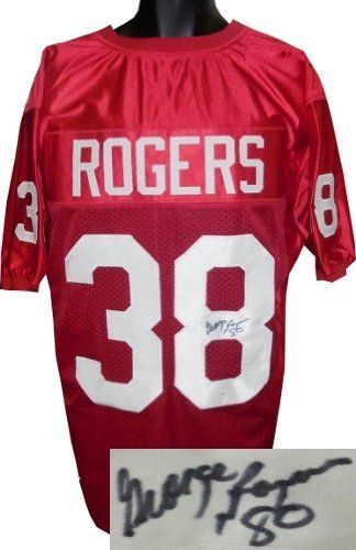 George Rogers Autographed/Hand Signed South Carolina Gamecocks Red Custom Jersey 80 (Heisman)- JSA H by Hall of Fame Memorabilia. $168.95. During George Rogers' junior campaign he rushed for 1681 yards. After that season Rogers was given Second Team All-America Honors by the Associated Press National Editorial Alliance United Press International American Football Coaches and Football News. In 1980 the stage was set when the Gamecocks returned plenty of talent which wa...