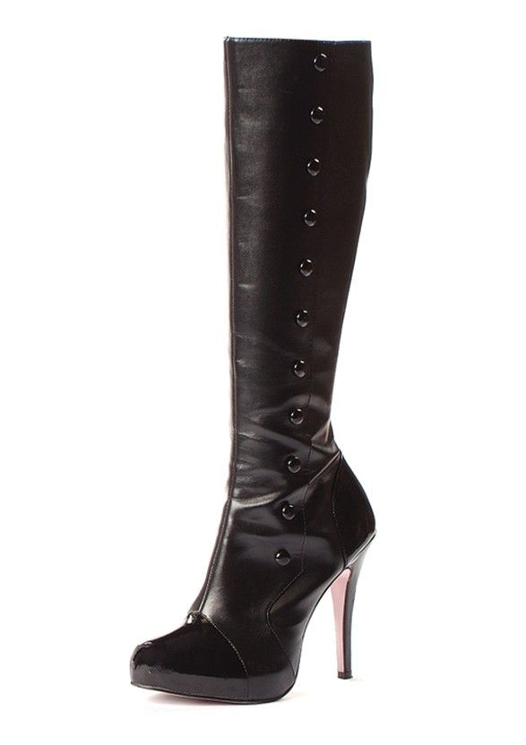 Knee-High Boot With Buttons And Inner Zipper Price: 74,95 € http://missemelie.com/en/boots/322-knee-high-boot-with-buttons-and-inner-zipper-714718441825.html