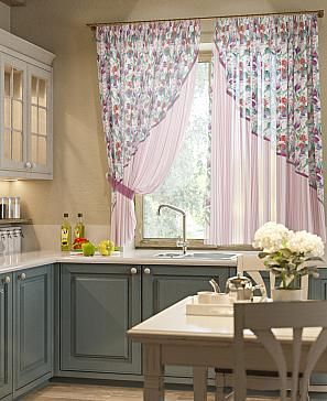 Комплект штор «Кармэн» розового цвета