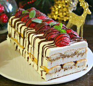 Десерт Рождественский, без выпечки  рецепт с фотографиями
