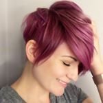 "Pink Pixie (@therealdanitza) ""Hair-washing day means color refresh! I love changing between pink and purple with each wash and…"""