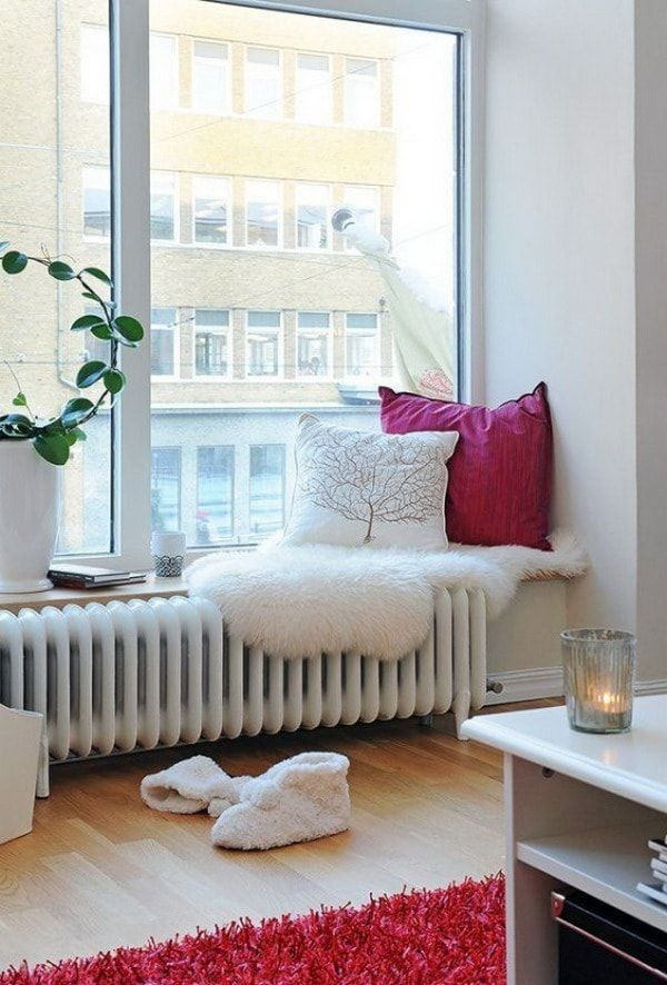 Cojines en asiento de ventana