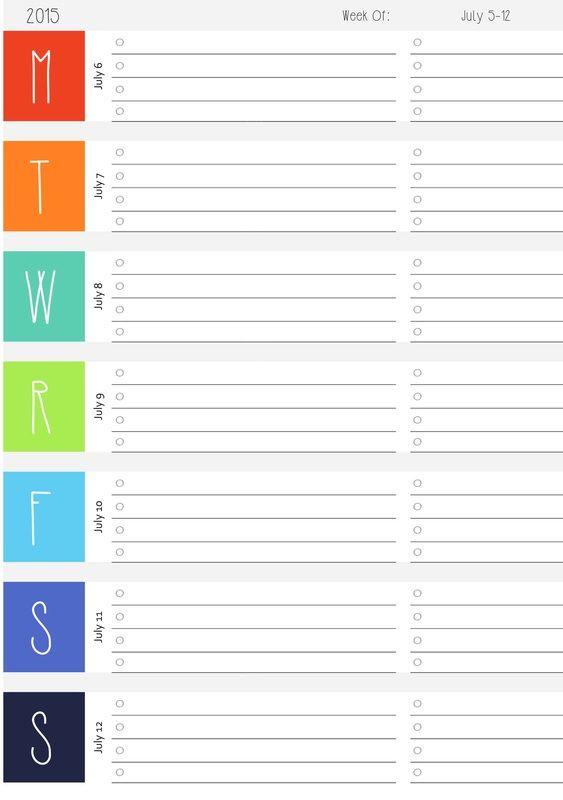 Best 25+ 2015 and 2016 calendar ideas on Pinterest Free calendar - free weekly calendar
