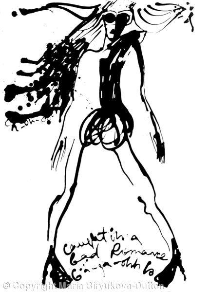 Lady Gaga - Ink on paper