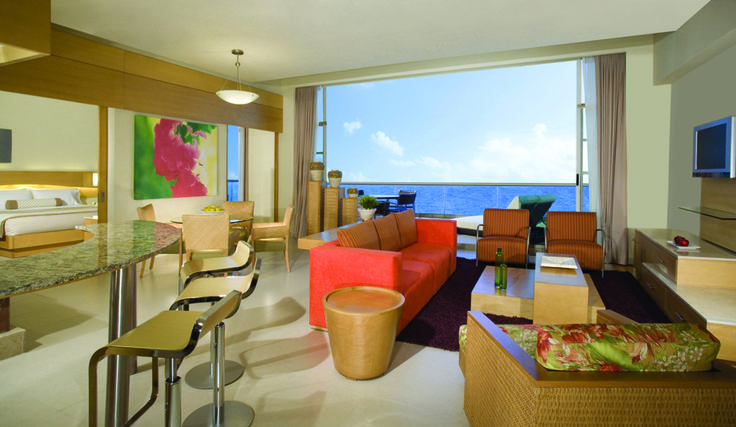 The presidential suite at the Beach Palace Cancun Resort.