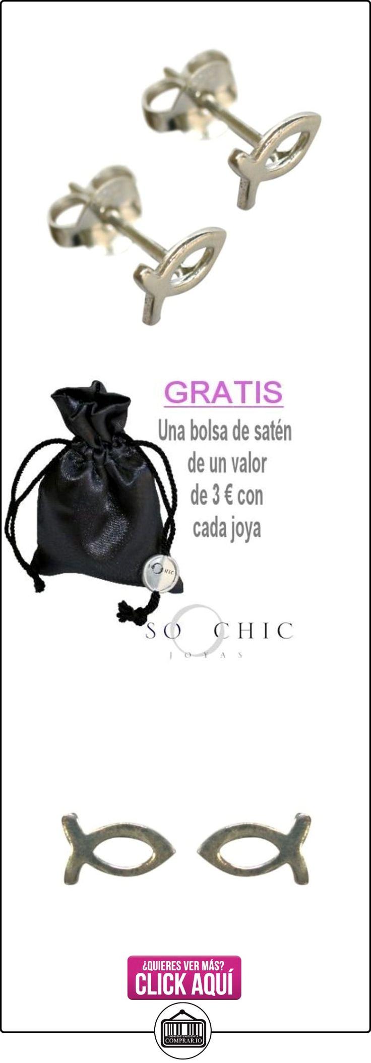 Pendientes Pez Ichtus - Ichthys Cristianismo Plata  ✿ Joyas para mujer - Las mejores ofertas ✿ ▬► Ver oferta: http://comprar.io/goto/B00FZND9AU