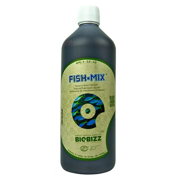 BioBizz Fish-Mix:  BioBizz Fish-Mix is a complete, all-organic fertiliser designed for use with all soil mixtures. As one of the first organic fertilisers to hit the Netherlands, Fish Mix has steadily built an international reputation as being an outstanding plant fertiliser. Even with today's competitive market it is still considered one of the best organic products out there.