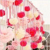 "Bruiloft decoratieve rekwisieten levert 10pcs/lot 6"" 15cm vloeipapier pom poms bruiloft feest festival decoratie a30"