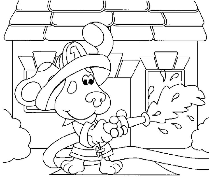 baby bear blues clues coloring pages - photo #15