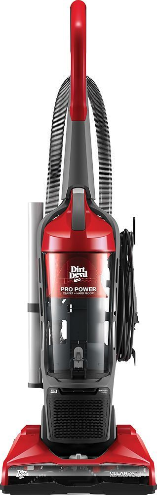 Dirt Devil - Pro Power Bagless Upright Vacuum - Red/Black/Gray