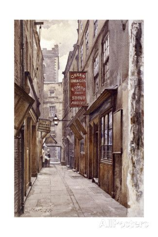 Botolph Alley, London, 1886 Giclee Print by John Crowther at AllPosters.com