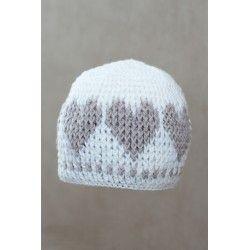 Cuffia bebè in lana merino