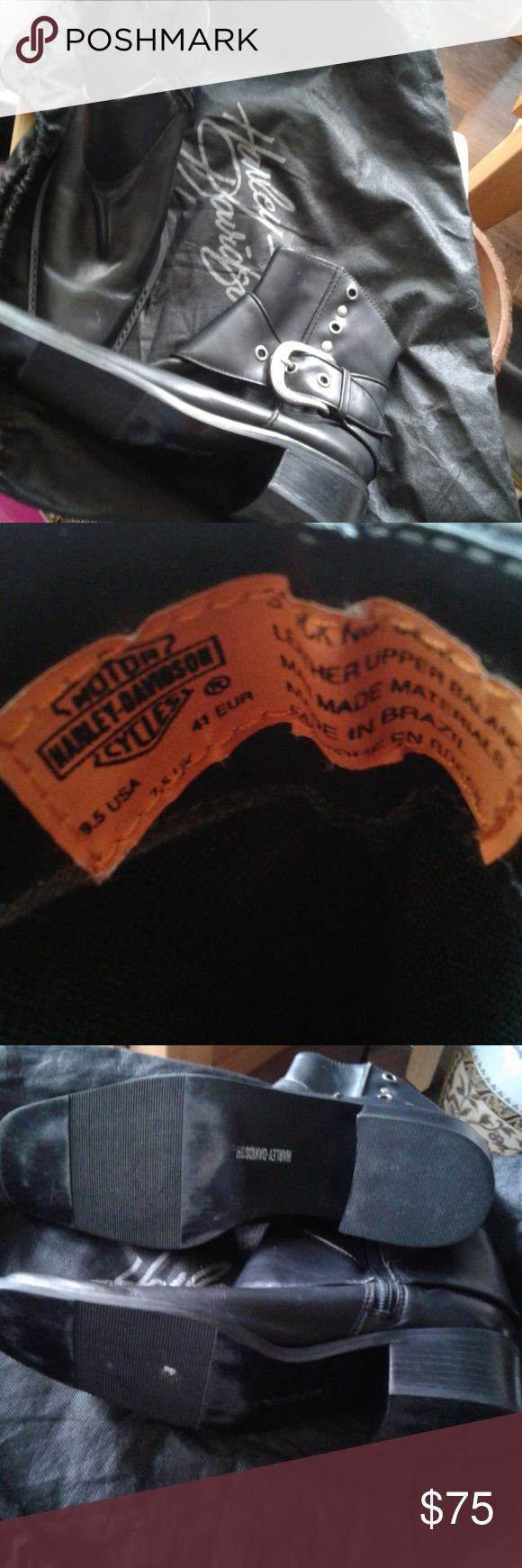 Harley Davidson men's boots Good pre-own condition Harley-Davidson Shoes Boots