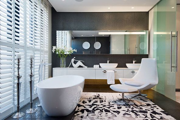 Luxury finishes abound in the contemporary bathroom #real estate #property #south africa