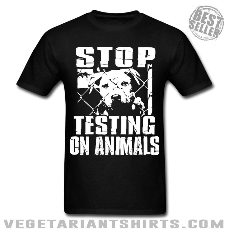 """Stop Testing On Animals""  Animal Rights Activist T-Shirt ( #Vegetarian #Vegan )"