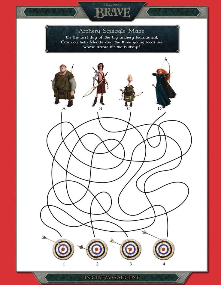 brave archery squiggle maze brave disney pixar games for kids for artemis