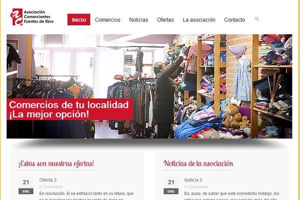 Creación de un directorio de negocios locales para la Asociación de Comerciantes de Fuentes de Ebro junto a una estrategia de Social Media >> www.comerciantesfuentesdeebro.com #SocialMedia #Aragon #web