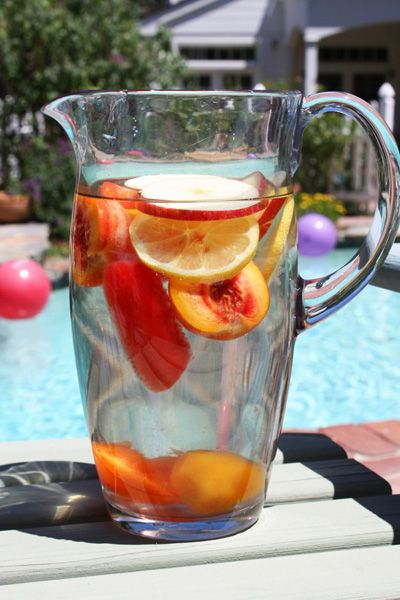 Refreshing Fruit-Infused Water from www.JennyCanCook.com