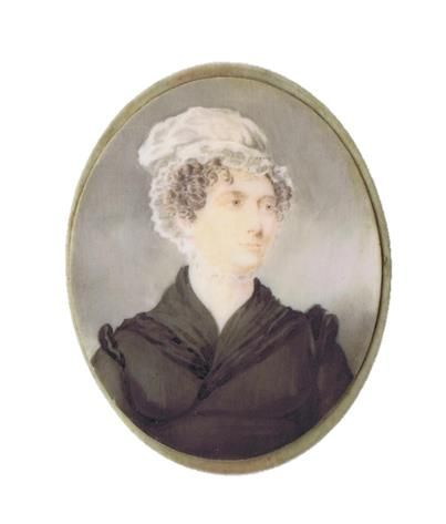 Eliza Yoder Poignand (1795-1883) miniature,  John Rutherford, watercolor on ivory, ca. 1820, Louisville.