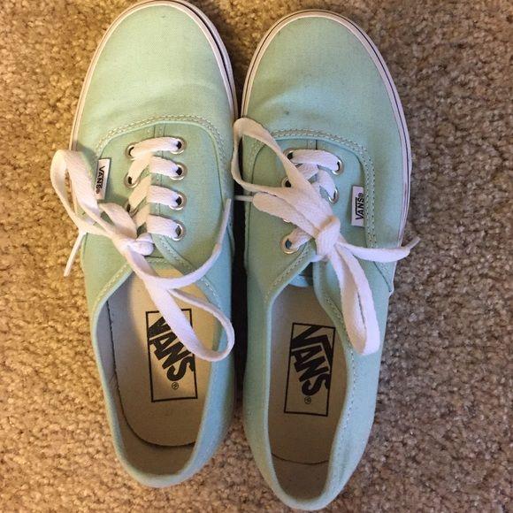 Mint vans Worn once--FIRM PRICE Vans Shoes