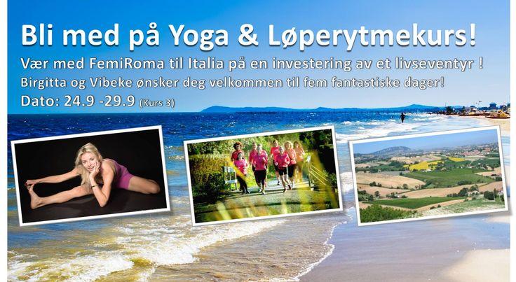 """Bli med på """" Yoga & Vandre - Løperytmekurs""""  Sett av 24. - 29. september <3   Vi ønsker deg velkommen til et livseventyr! Til kurs i  """" Yoga & Vandre - Løperytmekurs"""".  Vær med på spennende tilrettelagte aktiviteter, gode samtaler, kortreist mat og et fantastisk og aktivt pustehull i hverdagen.  https://www.facebook.com/events/383519778475363/"""