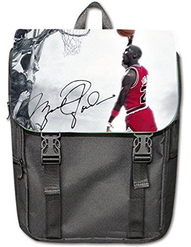 HEADJI Special Custom Michael Jordan Casual Shoulders Backpack Black * Click on the image for additional details.