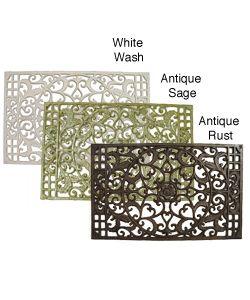 Large Cast Iron Rectangular Door Mat