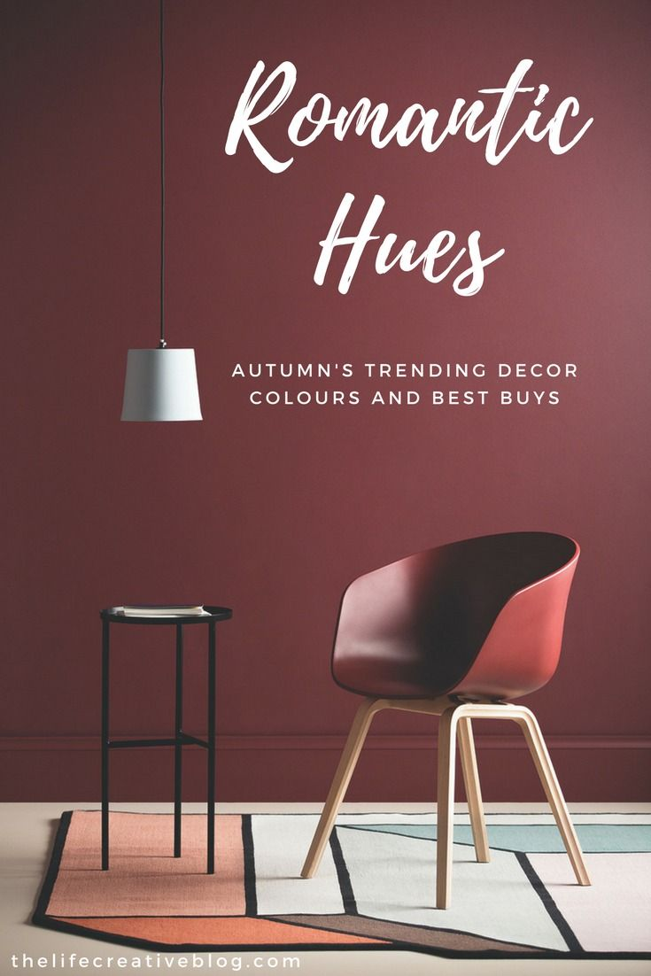 Red wall paint colors - Haymed Paint Deep Red Burgundy Feature Wall With Maroon Armchair And Grey Pendant Light