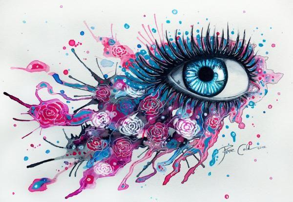 Midnight rose - Mind Blowing Eye Art by Svenja Jödicke | Cuded