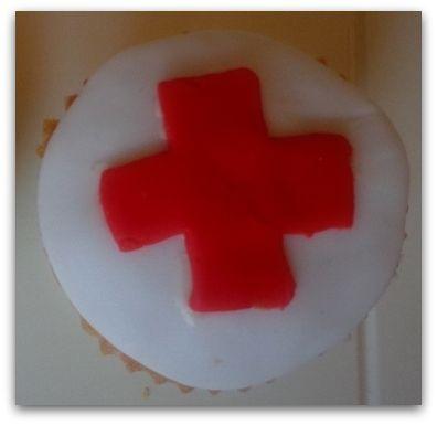 Dokter- en zustercupcakes
