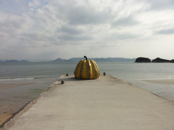 Pump kin Naoshima Island