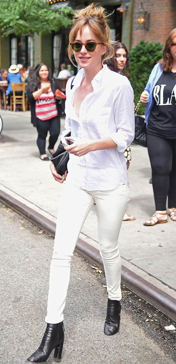 Street style look Dakota Johnson