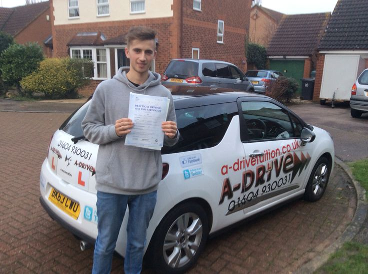"""1ST TIME PASS  A huge congratulations to Harry Wild of Moulton College who passed his practical driving test 1st time 18/11/14 with only 3 minor driving faults at Northampton Driving Test Centre with Andrew Batty of www.adrivetuition.co.uk  #Driving #Adrive #DrivingTest #DrivingSchools #DrivingLessons #DrivingInstructors #Northampton #Daventry #Towcester #Wellingborough #Northants  Harry said """"Many thanks Andrew for all your help and guidance. You were a great help and will definitely…"""