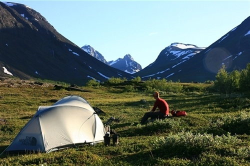 Midsummernight camping near #Kebnekaise, Sweden's highest mountain. By: Sander van der Werf. Tags: #hiking in #Sweden - Lapland