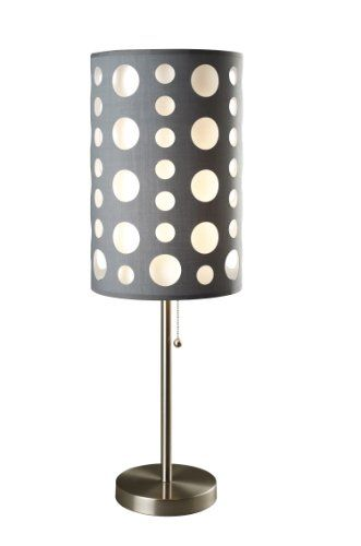 ORE INTERNATIONAL 9300T-GY-WH MODERN RETRO TABLE LAMP, 33-INCH, GREY/WHITE  - Click image for more info - See a larger selection of touch switch table lamps at http://tablelampgallery.com/product-category/touch-switch-table-lamps/ - home, home decor, gift ideas, lighting, lamp