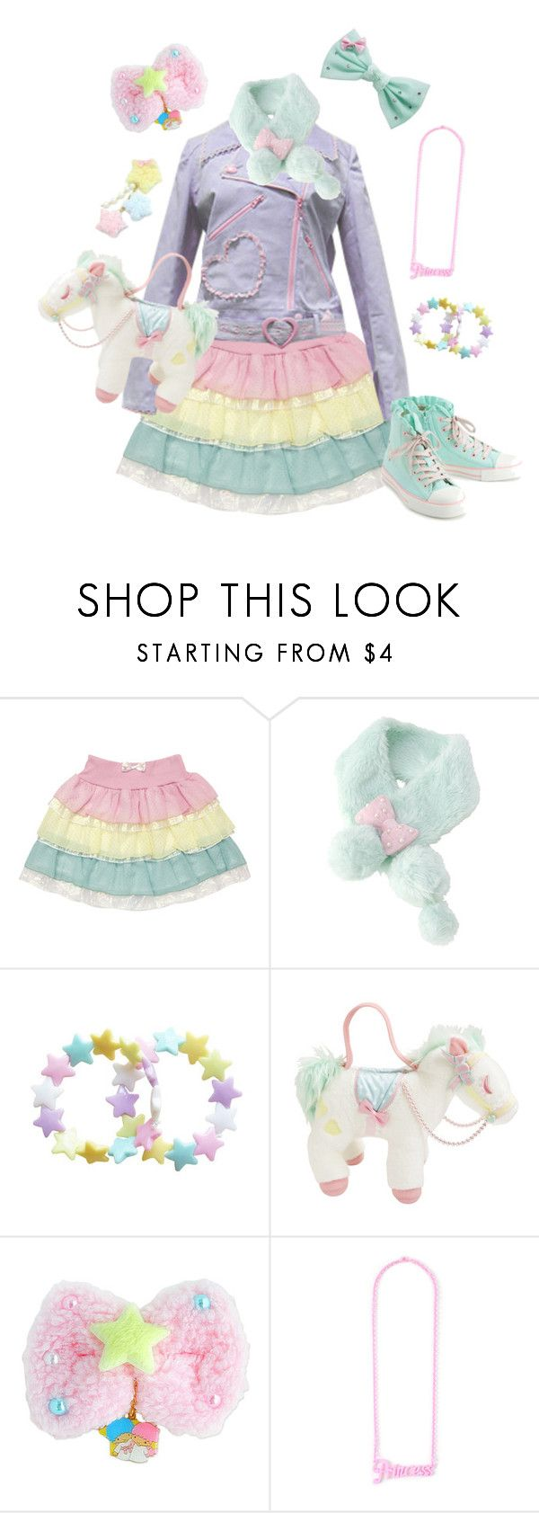 """""""Fairy kei #5"""" by sweetpasteldream ❤ liked on Polyvore"""
