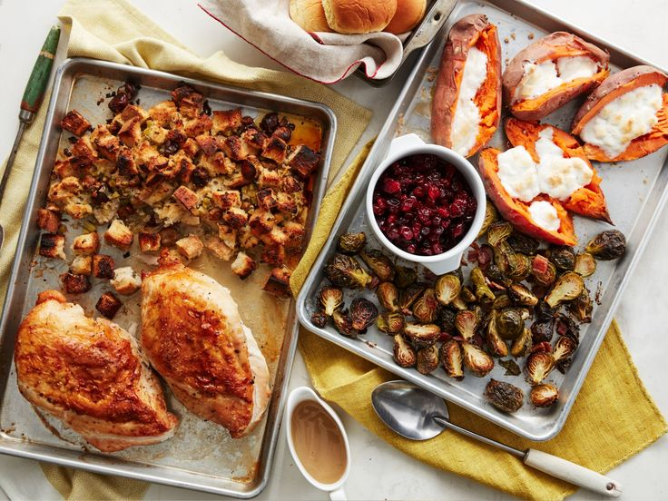 Thanksgiving on 2 Sheet Pans recipe from Food Network Kitchen via Food Network