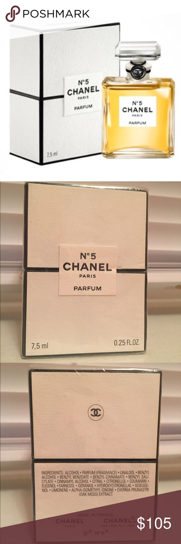 Chanel N5 Parfum **** Brand New**** CHANEL N5 Parfum / 7.5 ml/ 0.25 oz/ 100% Authentic in sealed box! Original price: $125 plus tax! This is a great deal! CHANEL Other