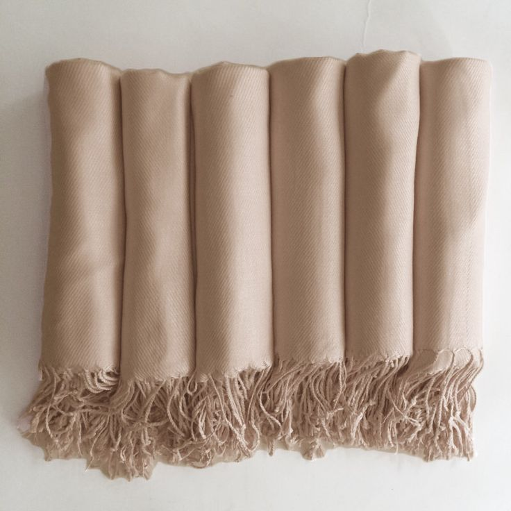 Pashmina shawl in Champagne-Light Gold - Bridesmaid Gift, Wedding Favor - Monogrammable by HaydenHarlowPR on Etsy https://www.etsy.com/listing/191535251/pashmina-shawl-in-champagne-light-gold