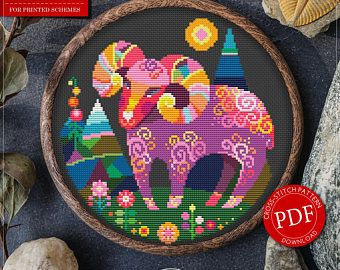 Zodiac Cross Stitch Pattern for Instant Download - 123| Aries Cross Stitch| Room Decor| Needlecraft Pattern| Easy Cross Stitch