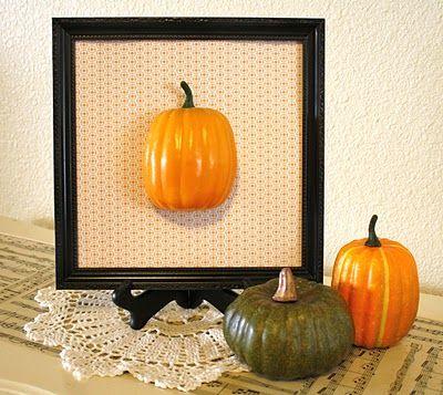 must do for gallery shelf: Pumpkin Art, Fun Decoration, Decor Ideas, Frames Pumpkin, Pumpkin Frames, 3D Pumpkin, House, Decoration Ideas, Festivals Ideas