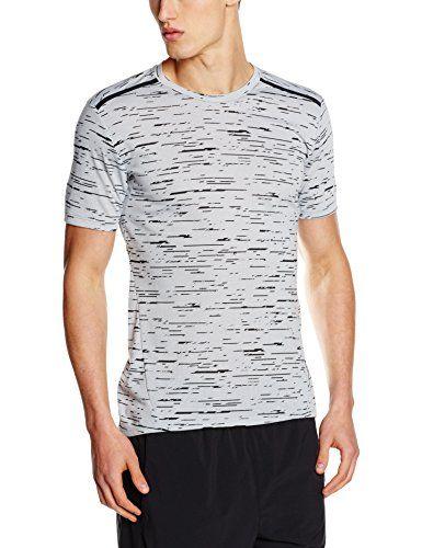 39af07ee Nike Herren Dry Top Tailwind Print Kurzarm Shirt, Wolf Grey/Black/Reflective  Silver