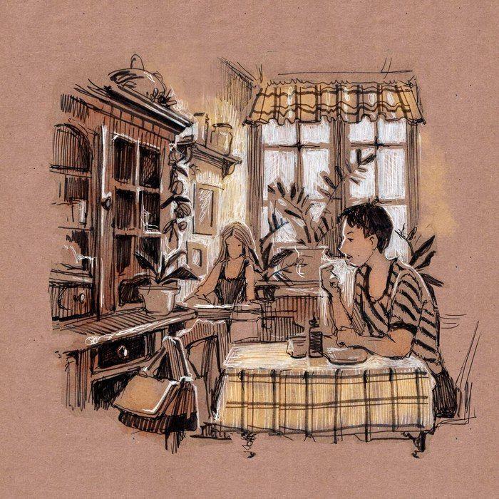 Посмотреть иллюстрацию Ирина Кондрашова (irinys1980) - Зарисовка. Зарисовка…