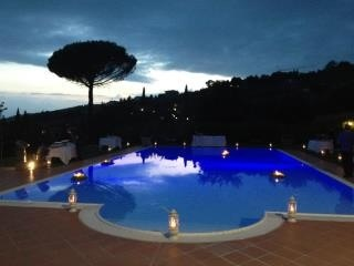 Party by the pool with nice view and sunset