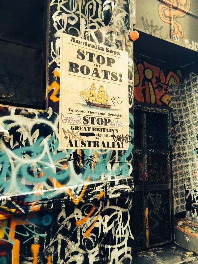 #streetart #art #graffiti #laneway #stoptheboats