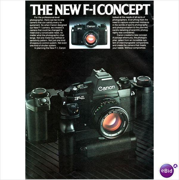 Canon F-1n Advertisement 80's Era