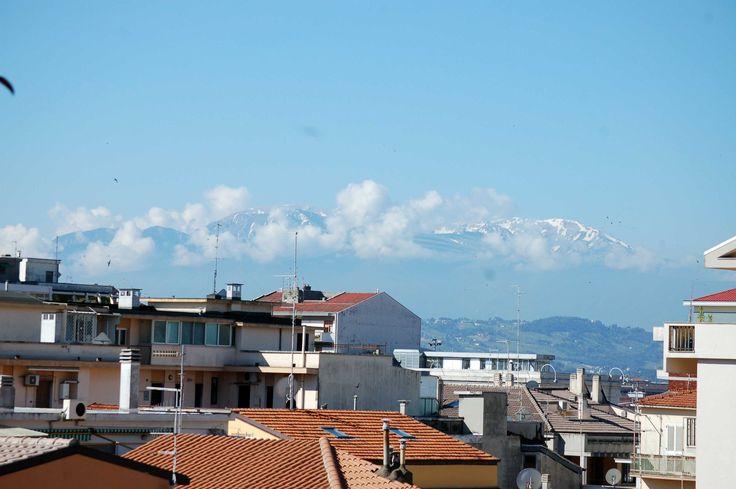 Snow capped Apeninne Mountains, Abruzzo, Italy