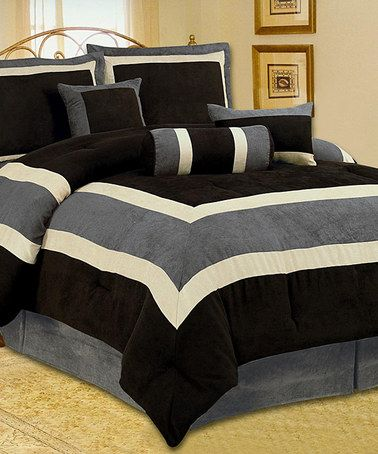 High Quality Soft Micro Suede Comforter Set Bedding-in-a-bag, Chocolate  Brown - Queen
